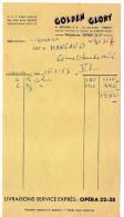 1953--GOLDEN GLORY--PARIS 9ème  Pour PARIS 6°--Facture - France
