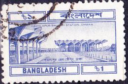 Bangladesch -Bahnhof Kamalapur, Dhaka (Mi.Nr. 207) 1983 - Gest. Used Obl - Bangladesh