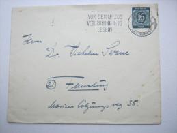 1946, FLENSBURG - REICHSPOST , Werbestempel Auf Beleg - American,British And Russian Zone