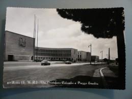 Roma - EUR - E.U.R. - Via Cristoforo Colombo E Piazza Esedra - Viaggiata 1958 - Non Classificati