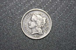 RFRA152 US COINS - USA 3 CENTS NICKEL ( THREE CENT Type  ) ETATS UNIS 1865 - Bondsuitgaven