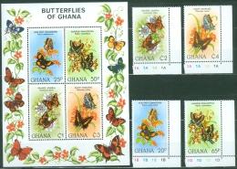 Ghana 1982 Butterflies MNH** - Lot. A15 - Ghana (1957-...)