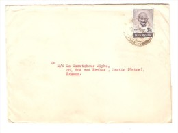 India TP Mahatma Gandhi 3 1/2 Value On Cover C.Bombay To France PR2529