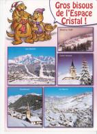 HAUTELUCE (73-Savoie)  Gros Bisous De L' Espace Cristal, Marmottes, Les Saisies, Bisanne, Crest Voland, Le Cernix, 2005 - Autres Communes