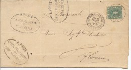 Torre Annunziata.1896. Annullo Grande Cerchio Torre Annunziata (Napoli), Su Lettera - 1878-00 Humberto I