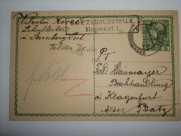 AUSTRIA 1917 POSTCARD WITH CENSOR ZENSURSTELLE CACHET - Cartas