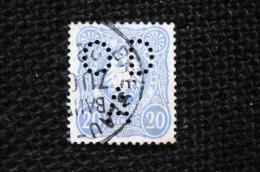Perfin Allemagne  N°39  Lochung Perforé OD/A - Gebraucht