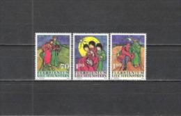 Liechtenstein 2002 Religion Christentum Weihnachten Christmas Kunst Kultur Batikarbeiten Christi Geburt, Mi. 1304-6 ** - Ungebraucht