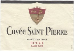 WINE LABEL - Cuvée Saint Pierre Mommessin, Product Of France (WL102) - Red Wines