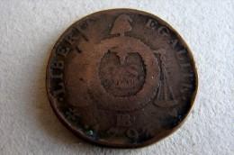 1793 BB Strasbourg 2 Sols Aux Balances - 1789-1795 Monnaies Constitutionnelles