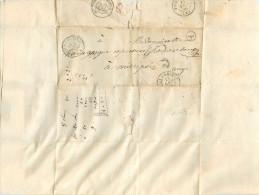 LETTRE Taxée 30 1856  De Labastide De Sérou à Mirepoix  2 Scans - Marcophilie (Lettres)