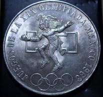 MEXIQUE 25 Pesos Argent Jeux Olympique De Mexico 1968 22.5 Grammes 38mm - Messico