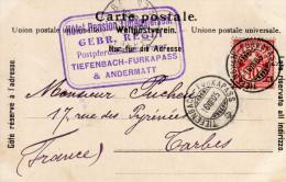 Suisse -  Tampon Hôtel Andermatt Et Timbre Sur CPA  1905 - PARFAIT ETAT  ( 2 Scans) - Marcofilia