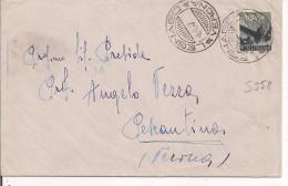DEMOCRATICA L.10. S 558, ISOLATO IN TARIFFA LETTERA, 1947, TIMBRO MEZZA LUNA A BARRE, POSTE LEGNAGO,VERONA,PESCANTINA - 1946-60: Storia Postale