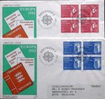 Denmark 1982 EUROPA   MiNr.749-50 FDC  ( Lot 2306 ) - FDC