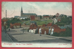 Pâturages - Rue Du Vieux Cimetière - Jolie Carte Couleur Et Animée  - 1908 ( Voir Verso ) - Colfontaine