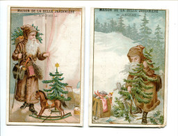 2 Chromos Père Noël Belle Jardiniere - Other