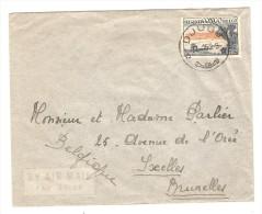 Belgisch Congo Belge TP 326 S/L.Avion écrite De Kibali Ituri C.Djugu En 1953 V.Bruxelles Belgique PR2536 - Congo Belge