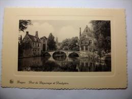 Carte Postale Belgique Bruges Pont Du Béguinage Et Presbytère Ingangpoort Vanhet Begijnhofen Pastorij - Brugge