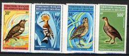 Afars Et Issas Posta Aerea 1972 Oiseaux N. 68-71 Serie MNH Catalogo € 73 - Afars Y Issas (1967-1977)