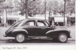 CPSM - TAXI PEUGEOT 203 - PARIS 1950 - Passenger Cars