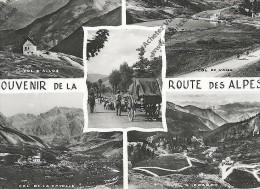 CPA SOUVENIR De La ROUTE Des ALPES Multivues (col Allos, Vars, Cayolle, Izoard) - Otros Municipios