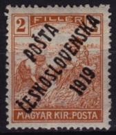 "1919 - Czechoslovakia - Czechoslovakia - Tschechoslowakei - ""Posta Ceskoslovenska 1919"" - Mi. 120 - Cecoslovacchia"