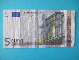 BILLET DE 5 EURO  U 002 H 6 PORTUGAL PREMIERE SIGNATURE DUISENBERG - EURO