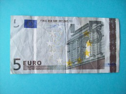 BILLET DE 5 EURO  U 004 E 5  PORTUGAL PREMIERE SIGNATURE DUISENBERG - EURO