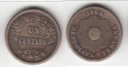 **** PEROU - PERU - 1 CENTAVO 1864 **** EN ACHAT IMMEDIAT - Pérou