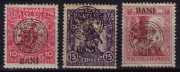 1919 Roman Occupation - Hungary - Cluj Napoca / Kolozsvár - MH+MNH+used - Transylvanie