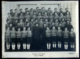 Photo Originale Lannion Institution Saint Joseph  1948-1949 -- Tourte Et Petitin Levallois Perret   M1 - Lieux