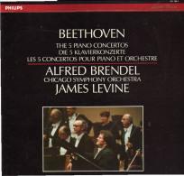 * 4LP Box *  BEETHOVEN: THE 5 PIANO CONCERTOS - BRENDEL / LEVINE / CHICAGO SYMPHONIE ORCHESTRA - Klassiekers