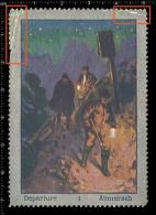 Old Original German Poster Stamp (advertising Cinderella Vignette) Mountain Mountaineering Climbing Alpinisme - Climbing