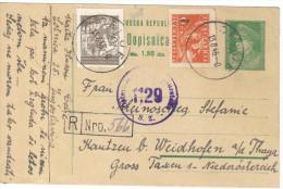 XIO270/71 JUGOSLAWIEN 1946 CARTE POSTAL Mit Zensurstempel Siehe ABBILDUNG - 1945-1992 Socialist Federal Republic Of Yugoslavia