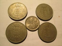BELGIUM 5 Coins # 3 - 1951-1993: Baudouin I