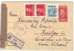 XIO282/83  JUGOSLAWIEN 1952 BRIEF Mit INHALT UndZensurstempel Siehe ABBILDUNG - 1945-1992 Socialist Federal Republic Of Yugoslavia
