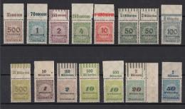 DR Lot 15 Marken Mit Oberrand Postfrisch Mit Minr. 330A - Ungebraucht