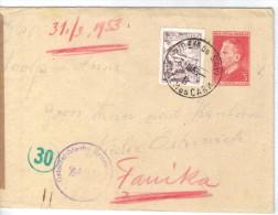 XIO292/93  JUGOSLAWIEN 1953 BRIEF Mit INHALT UndZensurstempel Siehe ABBILDUNG - 1945-1992 Socialist Federal Republic Of Yugoslavia