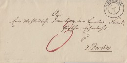 Brief Von K2 Lichtenau 7.7. R.B. Minden Nach Berlin - ...-1849 Vorphilatelie