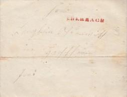 Brief Von Eberbach Roter L1 Von 1845 - Deutschland