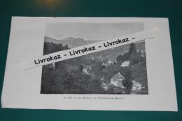 Le Val Et Les Rochers De Plaimbois Du Miroir, Doubs, Consolation-Maisonnettes, Photo Extraite D´un Livre Paru En 1904 - Otros
