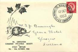 1953  Canadian Philatelic Soc. Of Great Britain Convention Souvenir Cover And Cancel - 1952-.... (Elizabeth II)