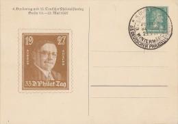 DR Privat-Ganzsache Minr. PP 101 C3/03 SST 23.5.27 Schiffspost - Deutschland