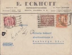 Kolumbien Brief Bogota Nach Hamburg Mit Zensur - Kolumbien