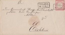 DR Brief EF Minr.4 R2 Kelbra 10.3. Gel. Nach Eisleben - Deutschland