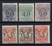 Italia Regno 1924 Segnatasse Vaglia Sass.SV1/6 **/MNH VF/F - Impuestos Por Ordenes De Pago