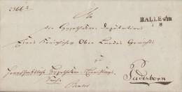 Brief Gel. Von L2 Halle I. Wph. 7.9. Nach Paderborn - Deutschland