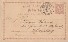 DR Ganzsache Mit Sauberem Hufeisenstempel Lübeck 24.3.74 - Deutschland