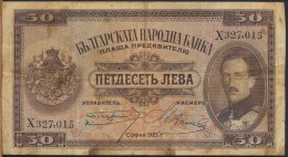 °°° BULGARIA - 50 LEVA 1925 °°° - Bulgarie